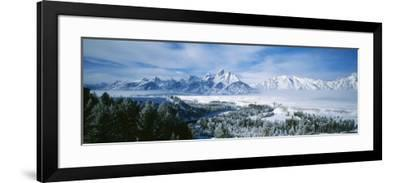 Snowcapped Mountains in Grand Teton National Park, Wyoming., USA--Framed Photographic Print