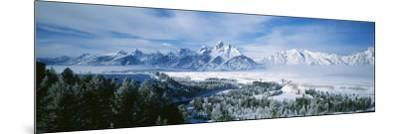 Snowcapped Mountains in Grand Teton National Park, Wyoming., USA--Mounted Photographic Print
