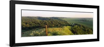 Landscape at a Hillside, Loess Hills, Iowa, USA--Framed Photographic Print