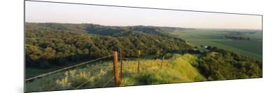 Landscape at a Hillside, Loess Hills, Iowa, USA--Mounted Photographic Print