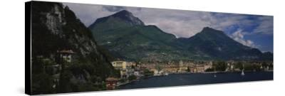 Town at the Waterfront, Riva Del Garda, Italy--Stretched Canvas Print
