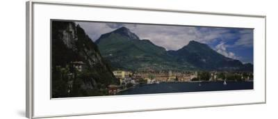 Town at the Waterfront, Riva Del Garda, Italy--Framed Photographic Print