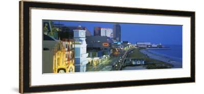 City Street Lit Up at Night, Atlantic City, New Jersey, USA--Framed Photographic Print