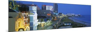 City Street Lit Up at Night, Atlantic City, New Jersey, USA--Mounted Photographic Print