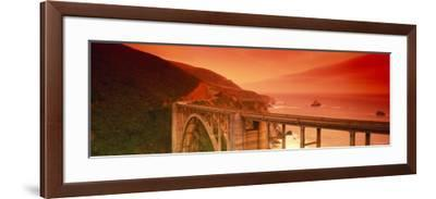 Bixby Bridge, Big Sur, California, USA--Framed Photographic Print