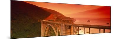 Bixby Bridge, Big Sur, California, USA--Mounted Photographic Print