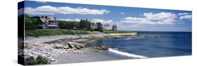 Mansion at a Coastline, Newport, Newport County, Rhode Island, USA--Stretched Canvas Print