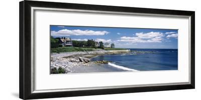 Mansion at a Coastline, Newport, Newport County, Rhode Island, USA--Framed Photographic Print
