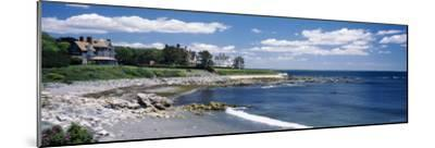 Mansion at a Coastline, Newport, Newport County, Rhode Island, USA--Mounted Photographic Print
