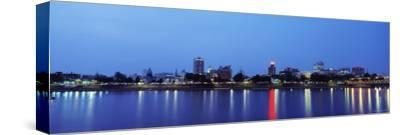 Reflection of Buildings in Water, Susquehanna River, Harrisburg, Pennsylvania, USA--Stretched Canvas Print