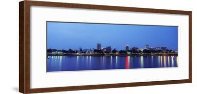 Reflection of Buildings in Water, Susquehanna River, Harrisburg, Pennsylvania, USA--Framed Photographic Print