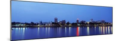 Reflection of Buildings in Water, Susquehanna River, Harrisburg, Pennsylvania, USA--Mounted Photographic Print