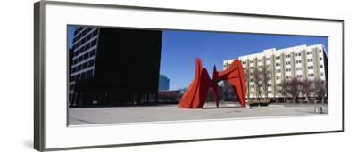 Sculpture in Front of a Building, Alexander Calder Sculpture, Grand Rapids, Michigan, USA--Framed Photographic Print