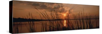 Lake Travis at Sunset, Austin, Texas--Stretched Canvas Print