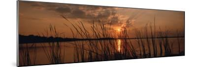 Lake Travis at Sunset, Austin, Texas--Mounted Photographic Print