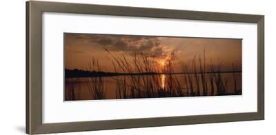 Lake Travis at Sunset, Austin, Texas--Framed Photographic Print