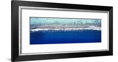 Aerial View of a Lagoon, Huahine Island, Tahiti, French Polynesia--Framed Photographic Print
