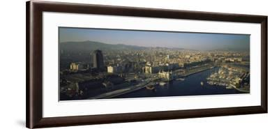 Aerial View of Barcelona, Spain--Framed Photographic Print