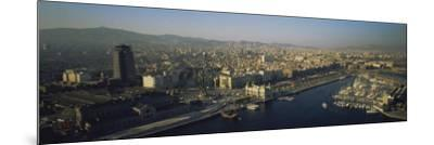 Aerial View of Barcelona, Spain--Mounted Photographic Print