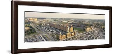 Aerial View of Oriole Park at Camden Yards, Baltimore, Maryland, USA--Framed Photographic Print
