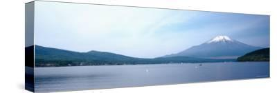 Mt Fuji, Yamanaka Lake, Yamanashi Prefecture, Chubu Region, Japan--Stretched Canvas Print