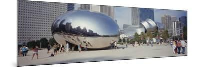 People in a Park, Cloud Gate, Millennium Park, Chicago, Illinois, USA--Mounted Photographic Print