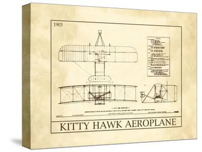 Kitty Hawk Aeroplane--Stretched Canvas Print