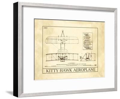 Kitty Hawk Aeroplane--Framed Art Print