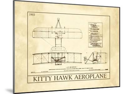 Kitty Hawk Aeroplane--Mounted Art Print