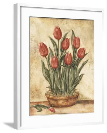 Potted Tulips-Tina Chaden-Framed Art Print