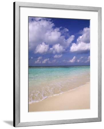Tropical Beach at Maldives, Indian Ocean-Jon Arnold-Framed Photographic Print