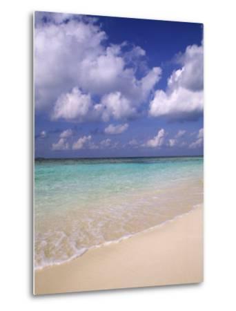 Tropical Beach at Maldives, Indian Ocean-Jon Arnold-Metal Print