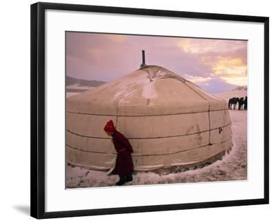 Yurts, Mongolia-Peter Adams-Framed Photographic Print