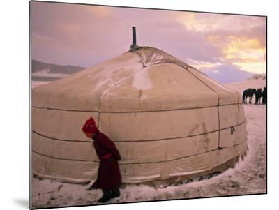 Yurts, Mongolia-Peter Adams-Mounted Photographic Print