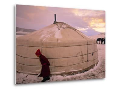 Yurts, Mongolia-Peter Adams-Metal Print