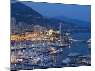 Harbour at Dusk, Monte Carlo, Monaco-Peter Adams-Mounted Photographic Print