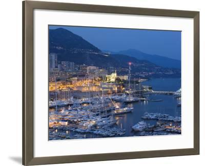 Harbour at Dusk, Monte Carlo, Monaco-Peter Adams-Framed Photographic Print