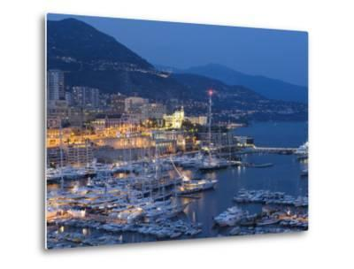 Harbour at Dusk, Monte Carlo, Monaco-Peter Adams-Metal Print
