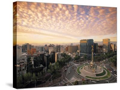 Momento a La Independencia, Mexico City, Mexico-Walter Bibikow-Stretched Canvas Print