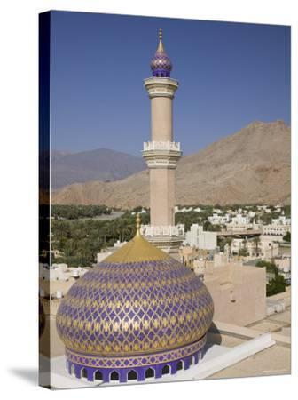 Nizwa Mosque, Western Hajar Mountains, Oman-Walter Bibikow-Stretched Canvas Print
