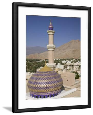 Nizwa Mosque, Western Hajar Mountains, Oman-Walter Bibikow-Framed Photographic Print