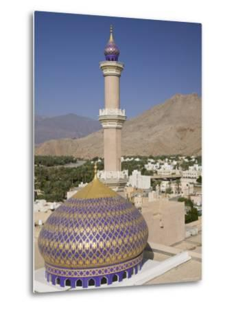 Nizwa Mosque, Western Hajar Mountains, Oman-Walter Bibikow-Metal Print