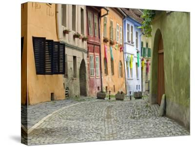 Medieval Old Town, Sighisoara, Transylvania, Romania-Russell Young-Stretched Canvas Print