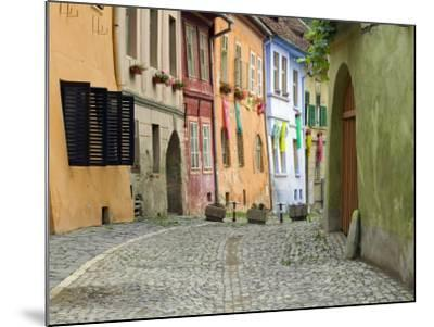 Medieval Old Town, Sighisoara, Transylvania, Romania-Russell Young-Mounted Photographic Print