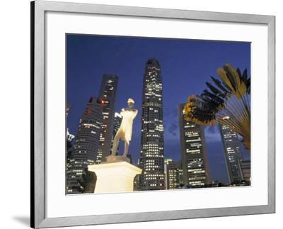 Financial District and Boat Quay, Singapore-Jon Arnold-Framed Photographic Print