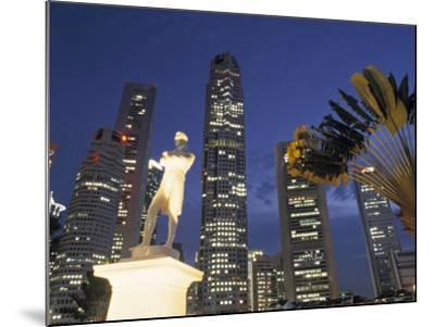Financial District and Boat Quay, Singapore-Jon Arnold-Mounted Photographic Print