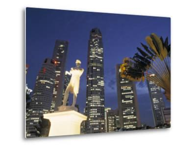 Financial District and Boat Quay, Singapore-Jon Arnold-Metal Print