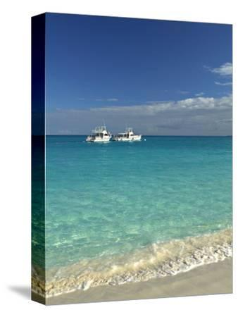 Beach at Grace Bay, Providenciales Island, Turks and Caicos, Caribbean-Walter Bibikow-Stretched Canvas Print