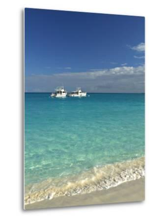 Beach at Grace Bay, Providenciales Island, Turks and Caicos, Caribbean-Walter Bibikow-Metal Print