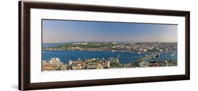 Bosphorus and Golden Horn Panorama from Galata Tower, Istanbul, Turkey-Michele Falzone-Framed Photographic Print